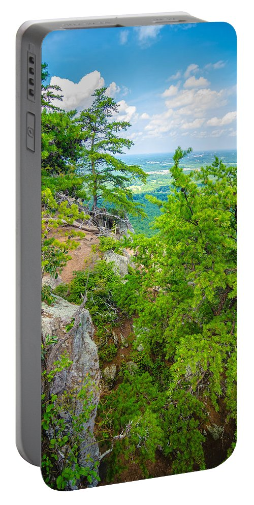 Aerial Portable Battery Charger featuring the photograph Beautiful Aerial Landscape Views From Crowders Mountain North Ca by Alex Grichenko