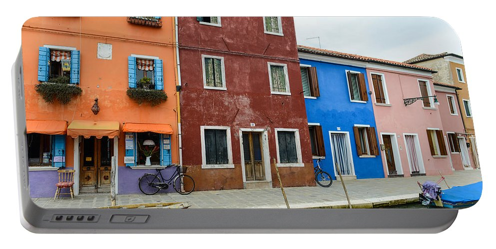 Ancient Portable Battery Charger featuring the photograph Burano Italy by Brandon Bourdages