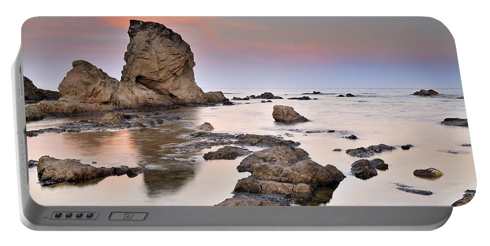 Seascape Portable Battery Charger featuring the photograph Cabo De Gata by Guido Montanes Castillo