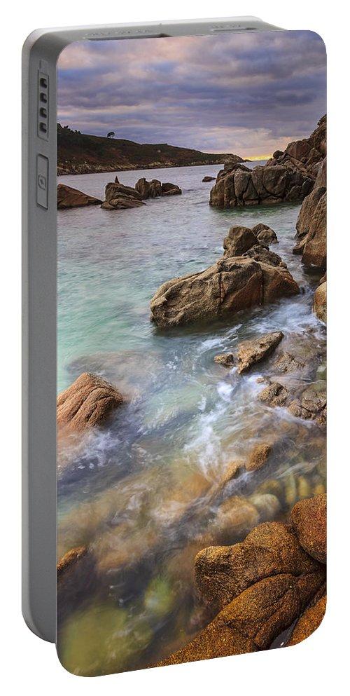 Chanteiro Portable Battery Charger featuring the photograph Chanteiro Beach Galicia Spain by Pablo Avanzini