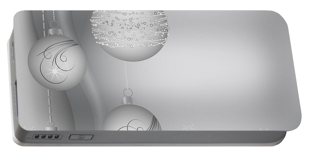 Vector Portable Battery Charger featuring the digital art Christmas Background by Michal Boubin