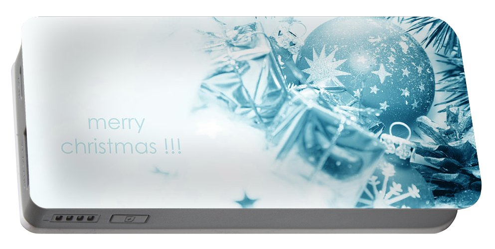 Christmas Portable Battery Charger featuring the photograph Christmas Balls Decoration by Michal Bednarek