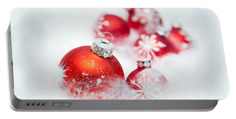 Christmas Portable Battery Charger featuring the photograph Christmas Decorations by Michal Bednarek