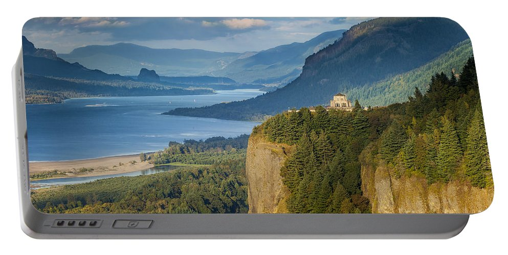 America Portable Battery Charger featuring the photograph Columbia River Gorge by Brian Jannsen
