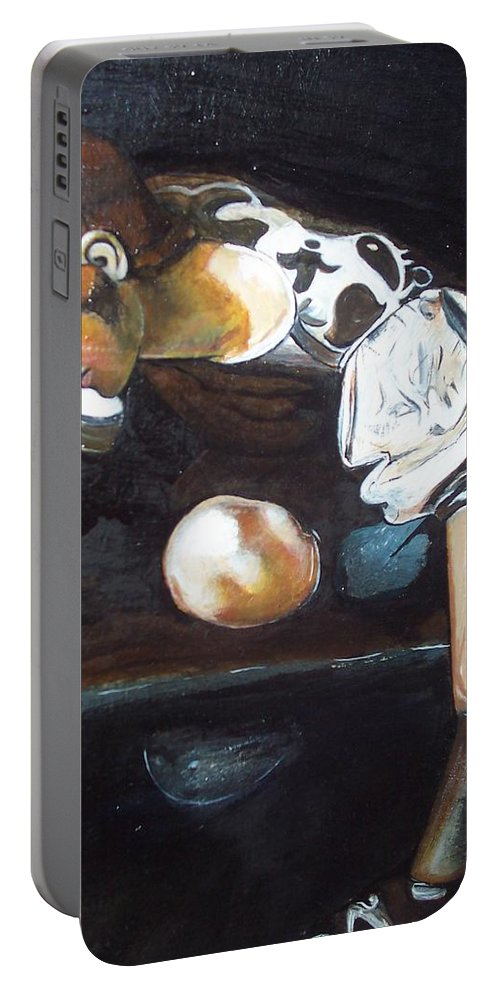 Portable Battery Charger featuring the painting Detail by Jude Darrien