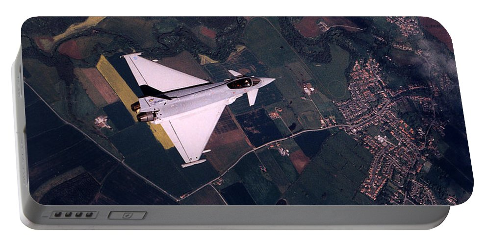 Eurofighter Da2 Aircraft Portable Battery Charger featuring the photograph Eurofighter by Paul Fearn