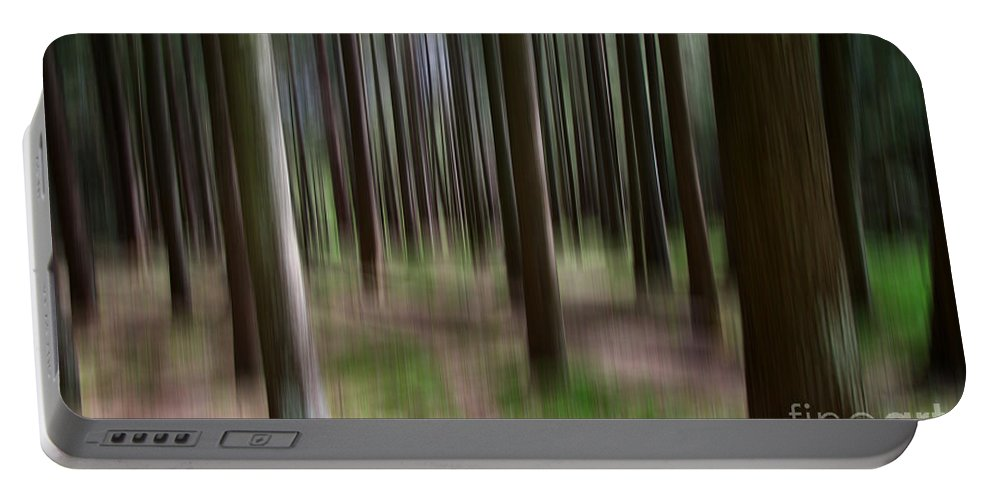 Green Forest Portable Battery Charger featuring the photograph Forest by Mats Silvan