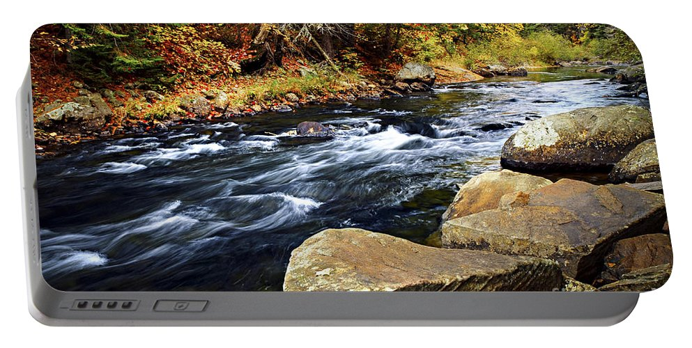 Autumn Portable Battery Charger featuring the photograph Forest River In The Fall by Elena Elisseeva