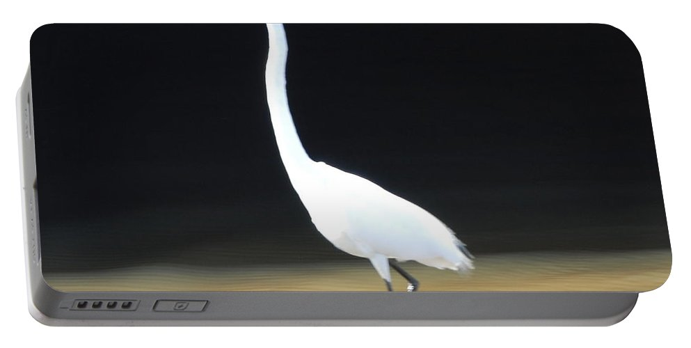 Fishing Portable Battery Charger featuring the photograph Great White Heron by Robert Floyd