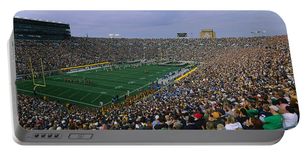 Photography Portable Battery Charger featuring the photograph High Angle View Of A Football Stadium by Panoramic Images