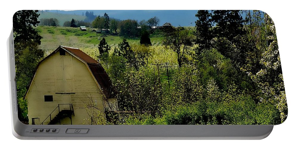Hood River Portable Battery Charger featuring the photograph Hood River by Image Takers Photography LLC