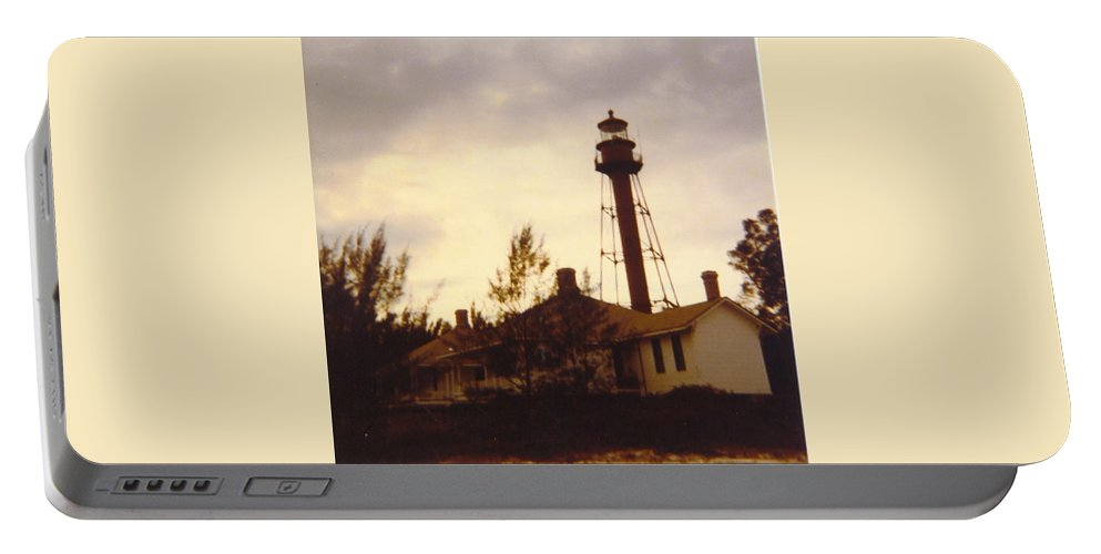 Sanibel Lighthouse Portable Battery Charger featuring the photograph Lighthouse Landscape by Robert Floyd
