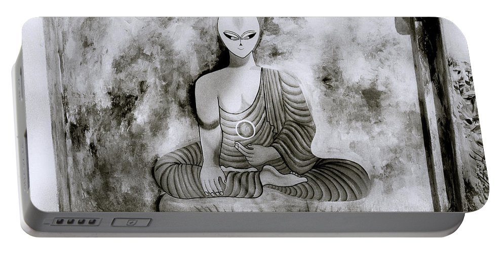Buddhism Portable Battery Charger featuring the photograph Lotus Position by Shaun Higson