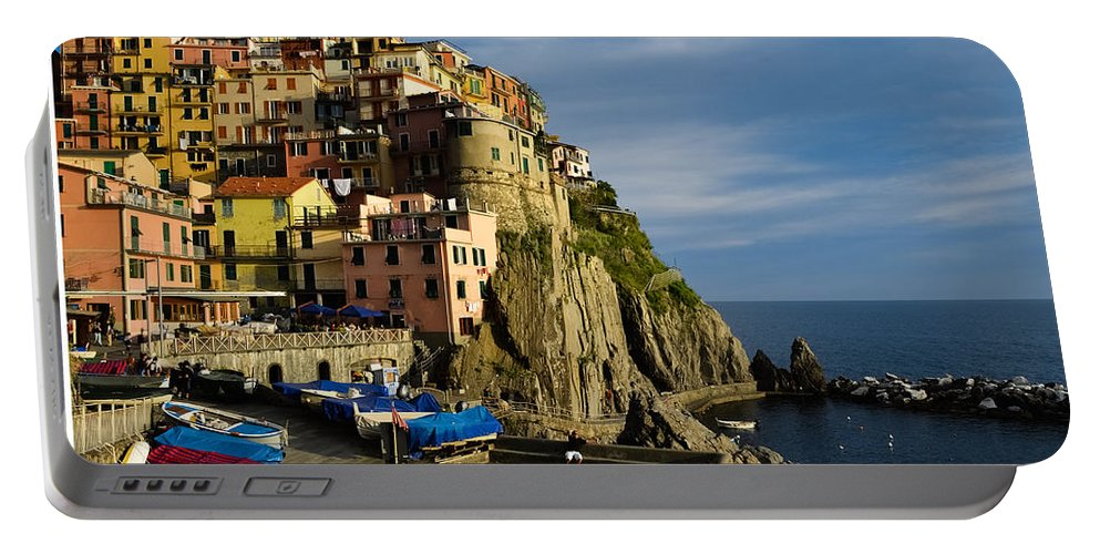 Manarola Portable Battery Charger featuring the photograph Manarola - Cinque Terre by Dany Lison