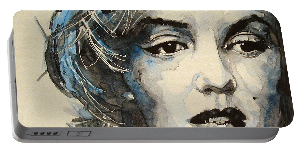 Marilyn Monroe Portable Battery Charger featuring the painting Marilyn by Paul Lovering