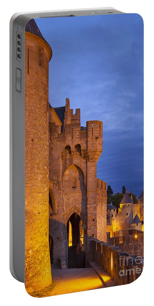 Architecture Portable Battery Charger featuring the photograph Medieval Carcassonne by Brian Jannsen