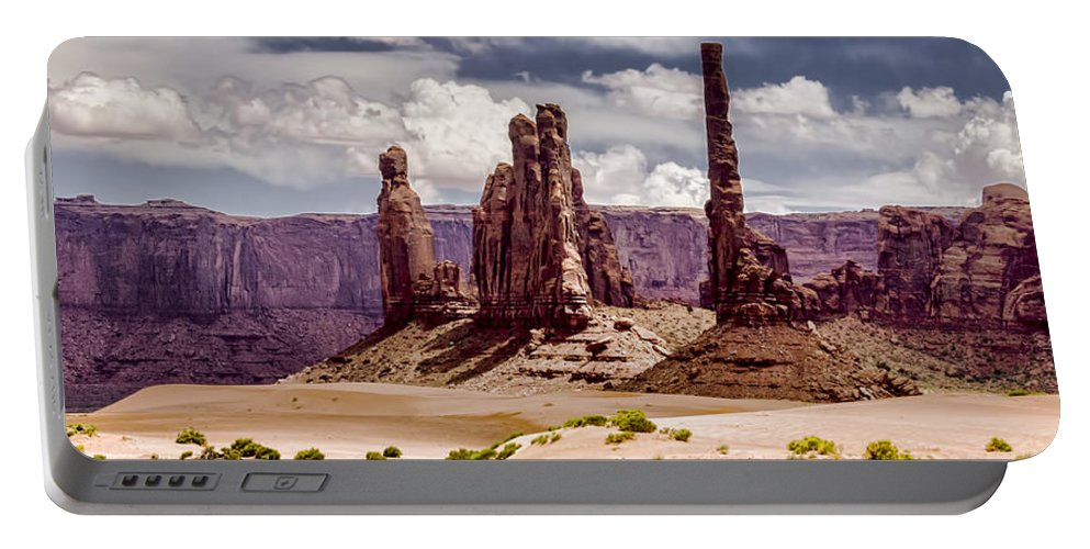 Landscape Portable Battery Charger featuring the photograph Monument Valley - Arizona by Jon Berghoff