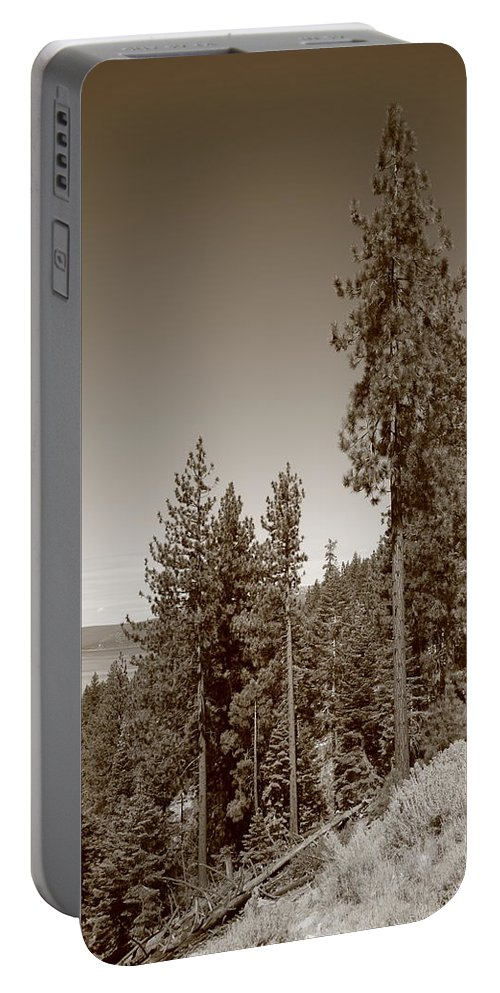 Alpine Portable Battery Charger featuring the photograph Mountainside Near Lake Tahoe by Frank Romeo