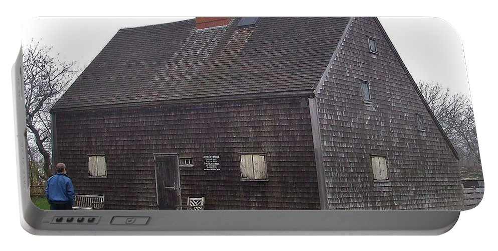 Classic Portable Battery Charger featuring the photograph Nantucket's Oldest House by Susan Wyman