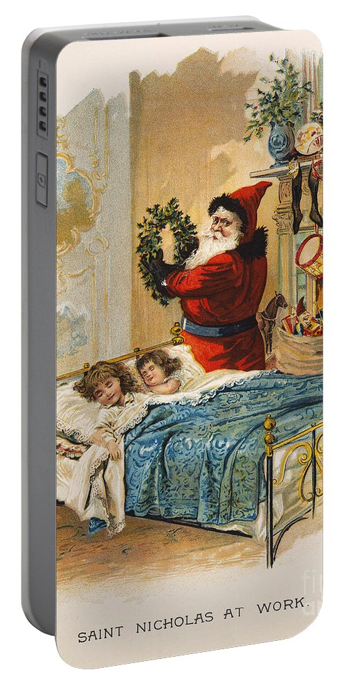 1898 Portable Battery Charger featuring the photograph Night Before Christmas by Granger