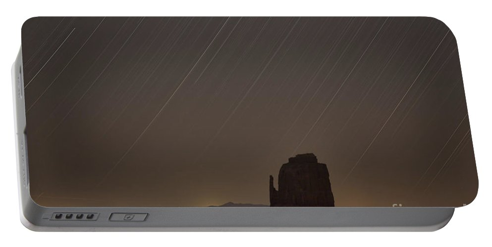 Monument Valley Portable Battery Charger featuring the photograph Night Sky by Douglas Barnard