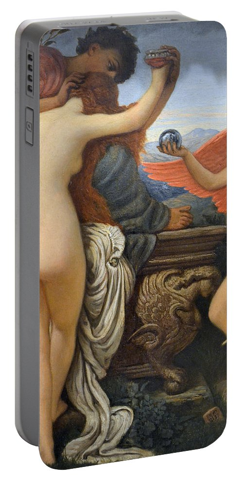 Elihu Vedder Portable Battery Charger featuring the painting Nude Art by Snowflake Obsidian