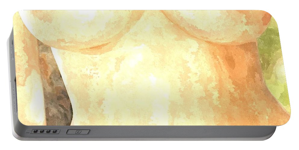 Nude Woman Portable Battery Charger featuring the painting Nude Women by Snowflake Obsidian