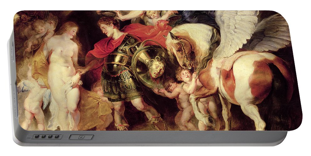 Pegasus Portable Battery Charger featuring the painting Perseus Liberating Andromeda by Peter Paul Rubens