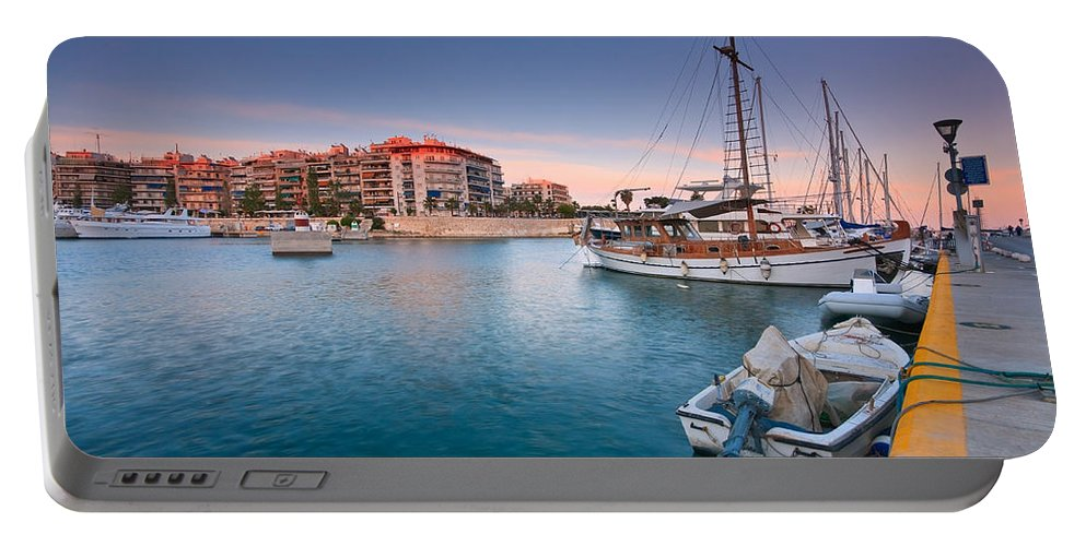 Mediterranean Portable Battery Charger featuring the photograph Piraeus by Milan Gonda