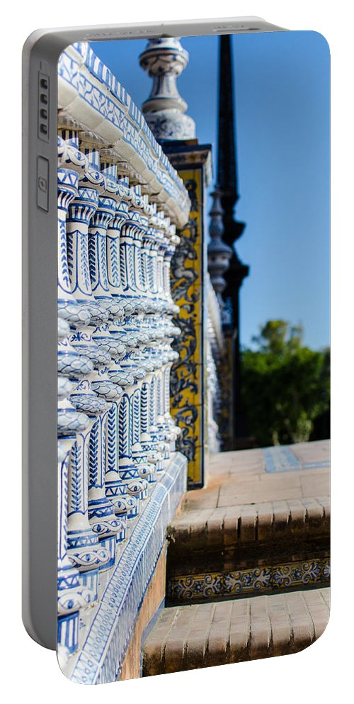 Seville Portable Battery Charger featuring the photograph Plaza De Espana by Andrea Mazzocchetti