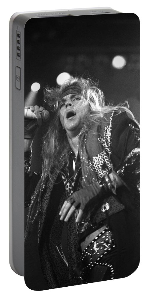 Fender Stratocaster Portable Battery Charger featuring the photograph Poison - Brett Michaels by Concert Photos