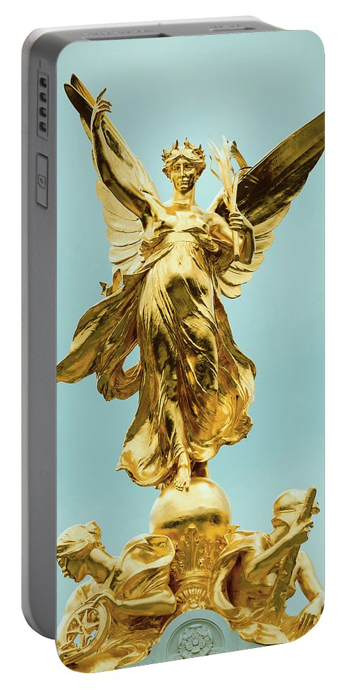 Memorial Portable Battery Charger featuring the photograph Queen Victoria Memorial In London by Dutourdumonde Photography