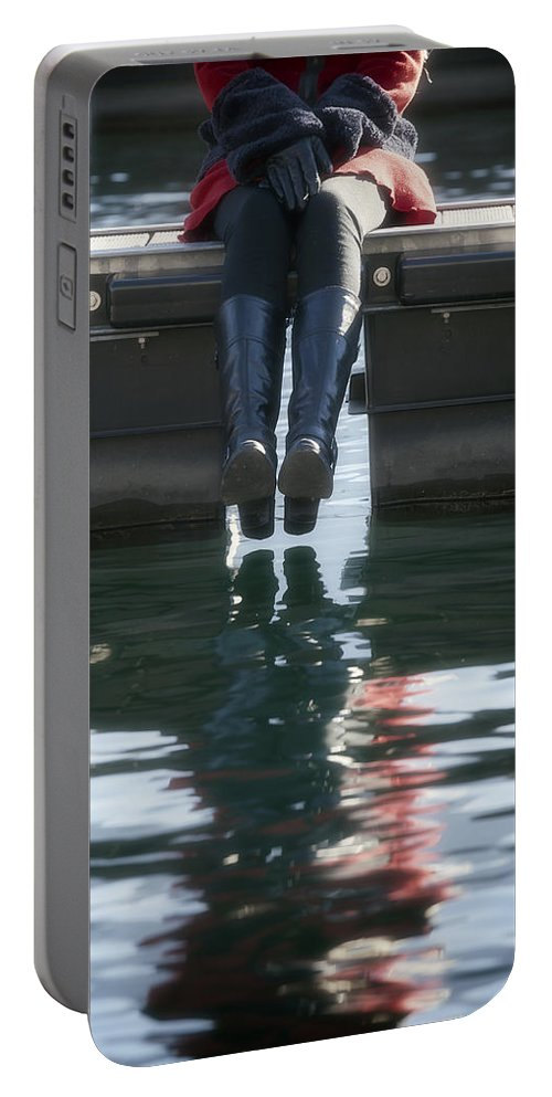 Woman Portable Battery Charger featuring the photograph Reflection by Joana Kruse
