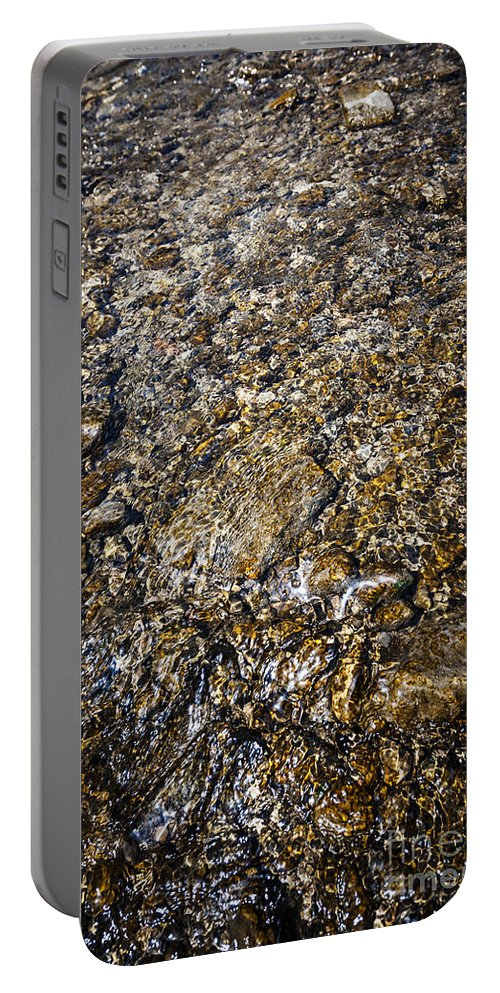 Water Portable Battery Charger featuring the photograph Rocks In Water by Elena Elisseeva