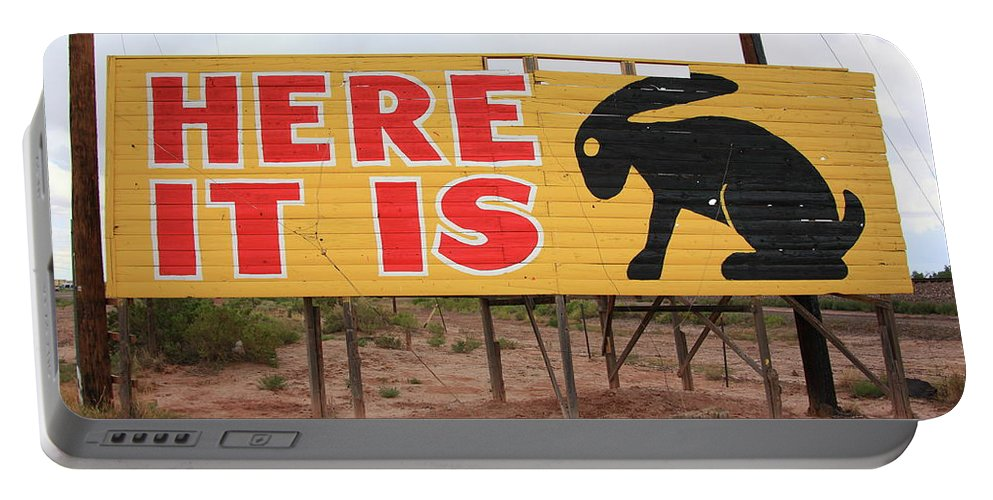 66 Portable Battery Charger featuring the photograph Route 66 - Jack Rabbit Trading Post by Frank Romeo