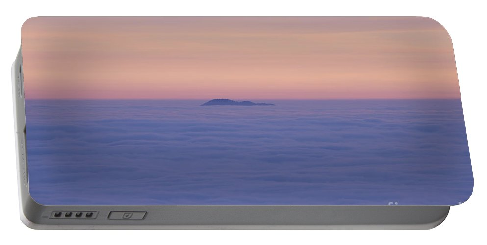 Sea Of Fog Portable Battery Charger featuring the photograph Sea Of Fog In Sunset by Mats Silvan