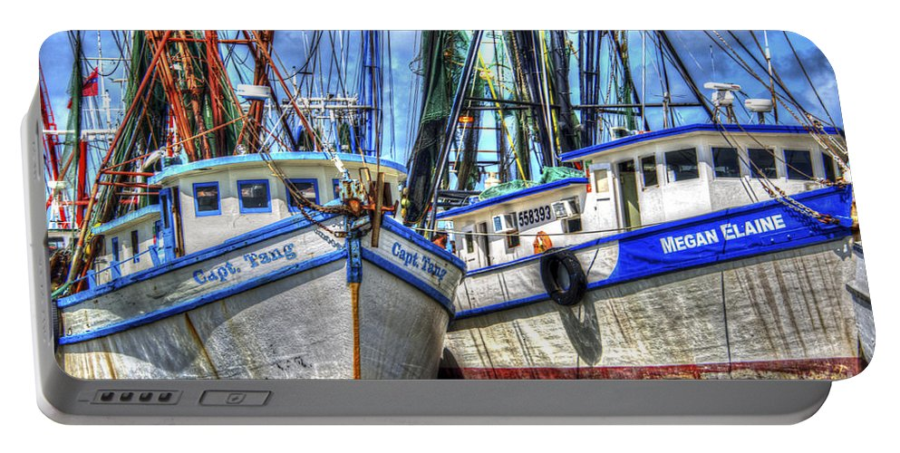 Shrimp Boats Portable Battery Charger featuring the photograph Shrimp Boats Season by Dale Powell
