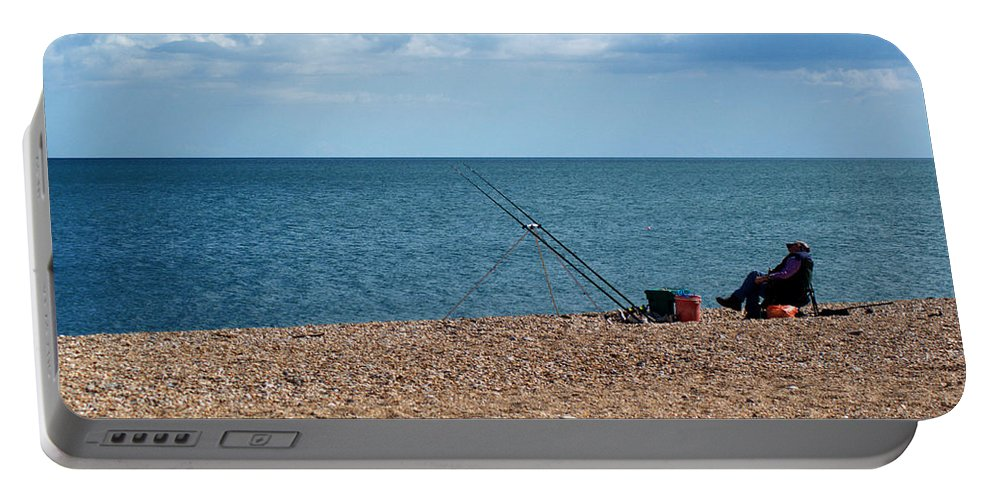 Start Bay Portable Battery Charger featuring the photograph Slapton Sands by Chris Day