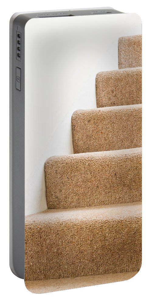 Architecture Portable Battery Charger featuring the photograph Stairs by Tom Gowanlock