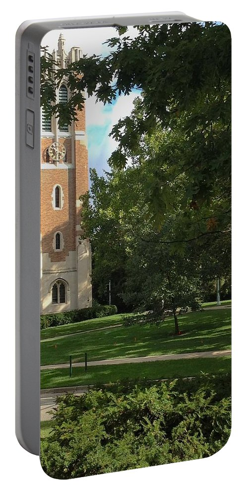 Beaumont Tower Portable Battery Charger featuring the photograph Summer by Joseph Yarbrough