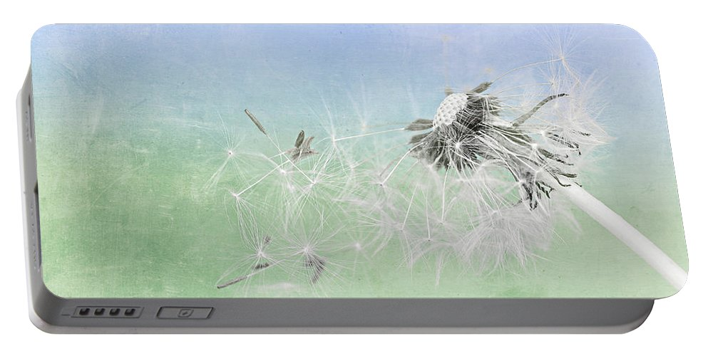 Drops Portable Battery Charger featuring the mixed media Summertime by Heike Hultsch