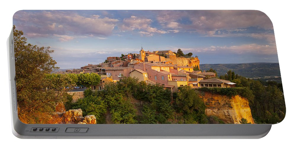 Buildings Portable Battery Charger featuring the photograph Sunrise Over Roussillon by Brian Jannsen