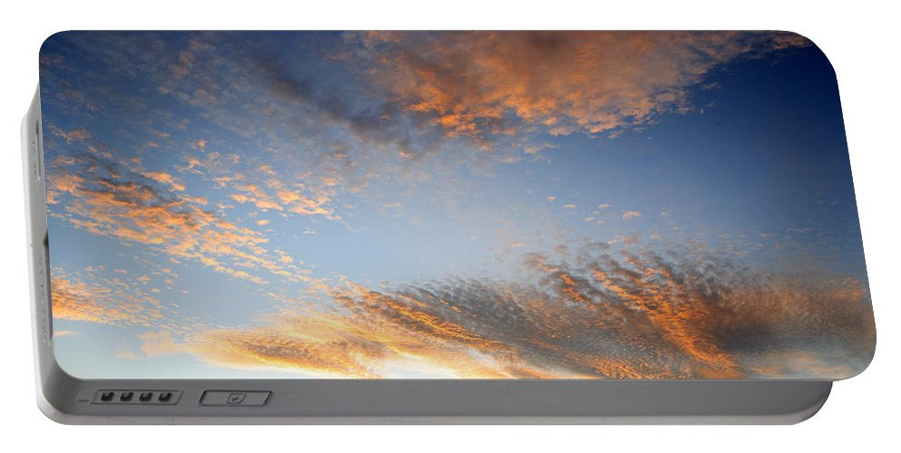 Abstract Portable Battery Charger featuring the photograph Sunset Sky by Les Cunliffe