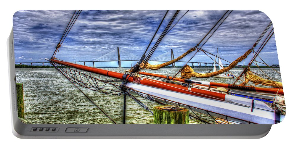 Tall Ships Portable Battery Charger featuring the photograph Pointing South by Dale Powell