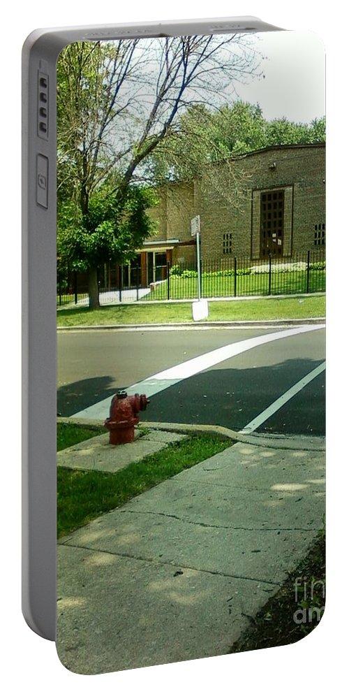 Third Unitarian Church Portable Battery Charger featuring the photograph Third Unitarian Church Of Chicago by Alfie Martin