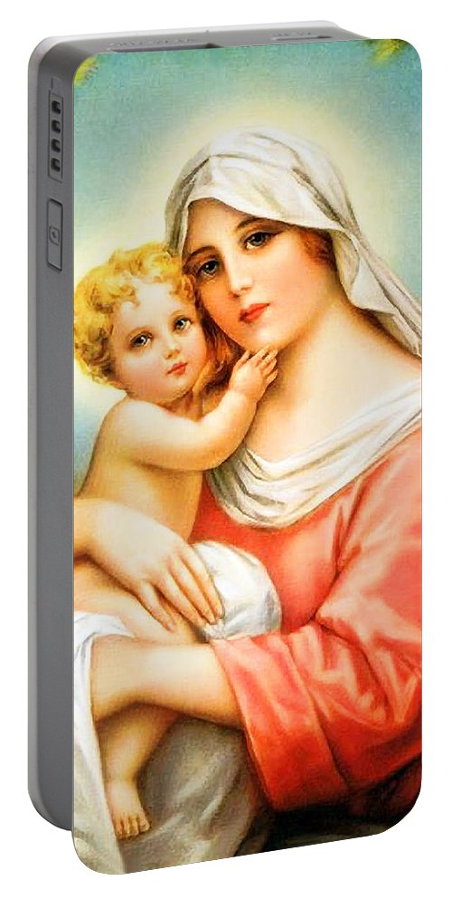 Mary Portable Battery Charger featuring the photograph Unconditional Love by Munir Alawi