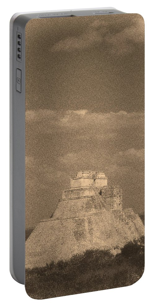 America Portable Battery Charger featuring the digital art Uxmal Ruins by Roy Pedersen