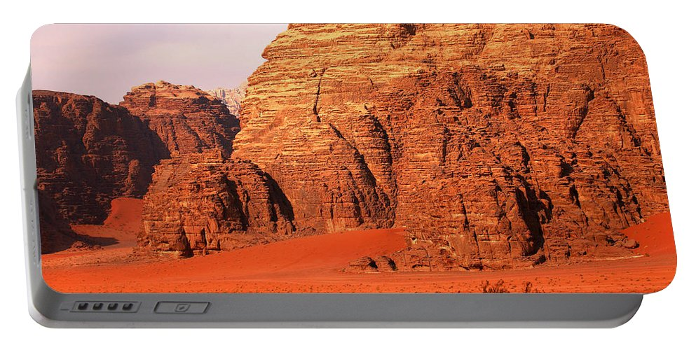 Adventure Portable Battery Charger featuring the photograph Wadi Rum Desert, Jordan by David Santiago Garcia
