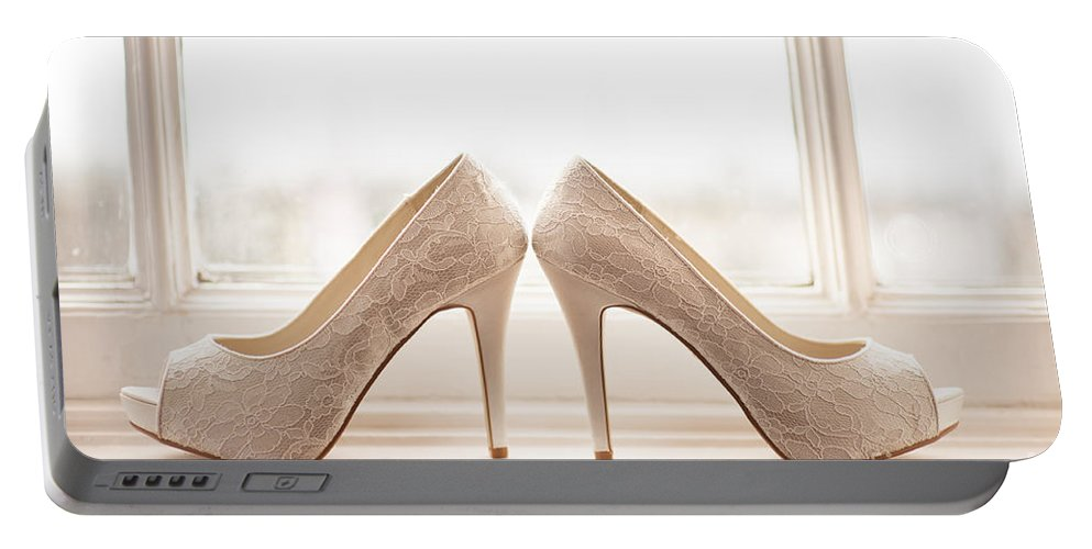 Wedding Portable Battery Charger featuring the photograph Wedding Shoes by Lee Avison