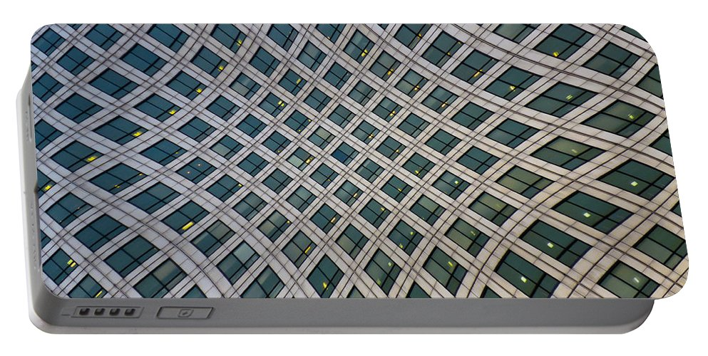 Canary Wharf Portable Battery Charger featuring the photograph Canary Wharf London by David Pyatt